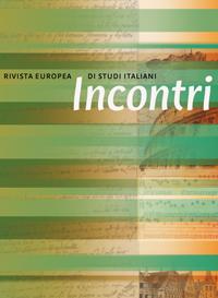 View Vol. 33 No. 2 (2018): L'Italia e la Francia: Scambi culturali / Italy and France: Cultural  Exchanges